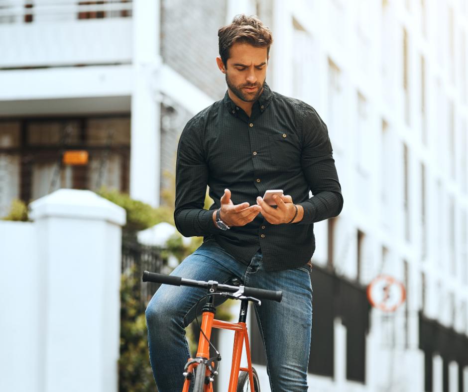Verkeerde afslag fiets